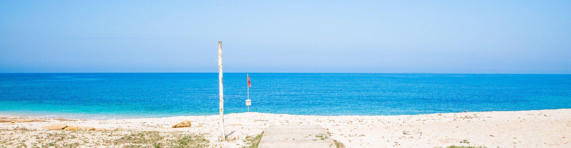 Accesso alla spiaggia di Is Arutas