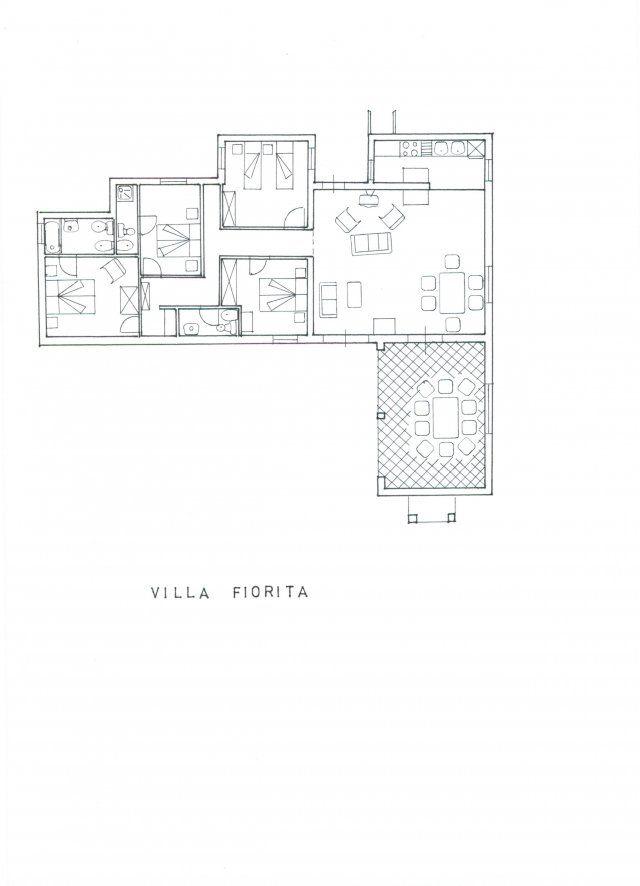 Piantina di Villa Fiorita