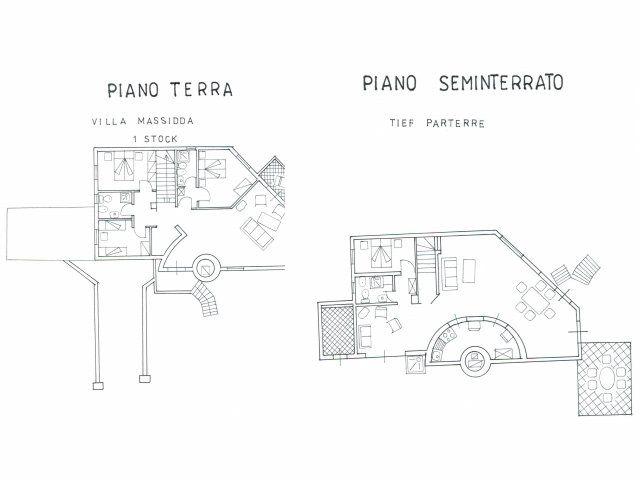 Pianta Villa Massidda