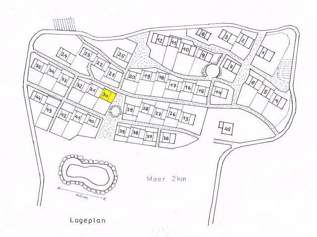 Pianta Villaggio Li Conchi con i numeri delle case