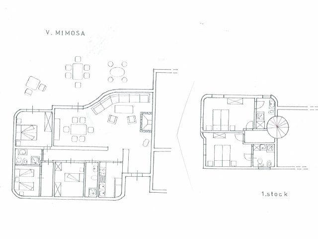 Grundriss Villa Mimosa