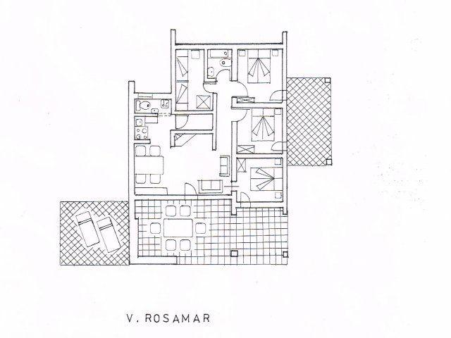 Planimetria Villa Rosamar