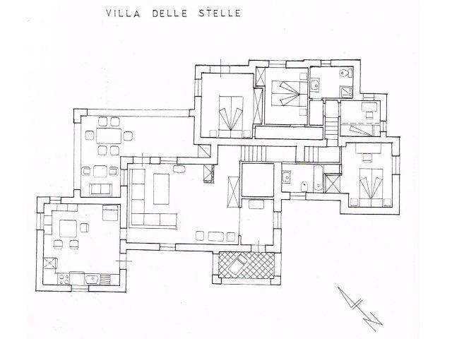 Grundriss Villa delle Stelle