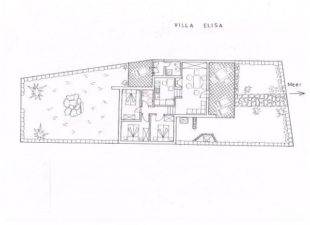 Pianta Villa Elisa