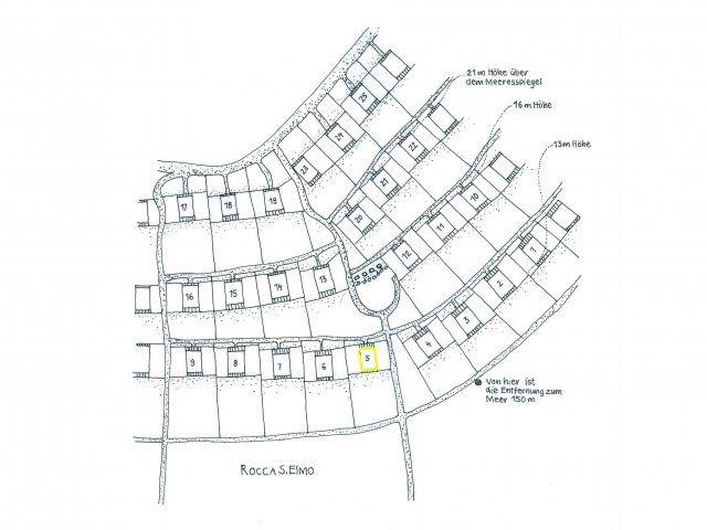Posizione della casa nel complesso di Sant'Elmo