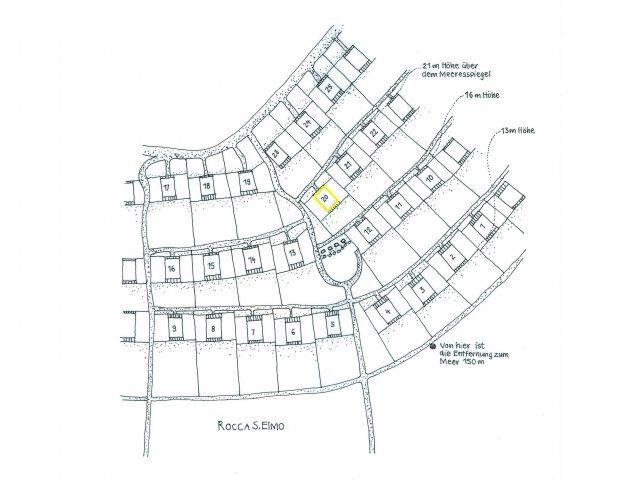 Mappa del complesso di Sant Elmo