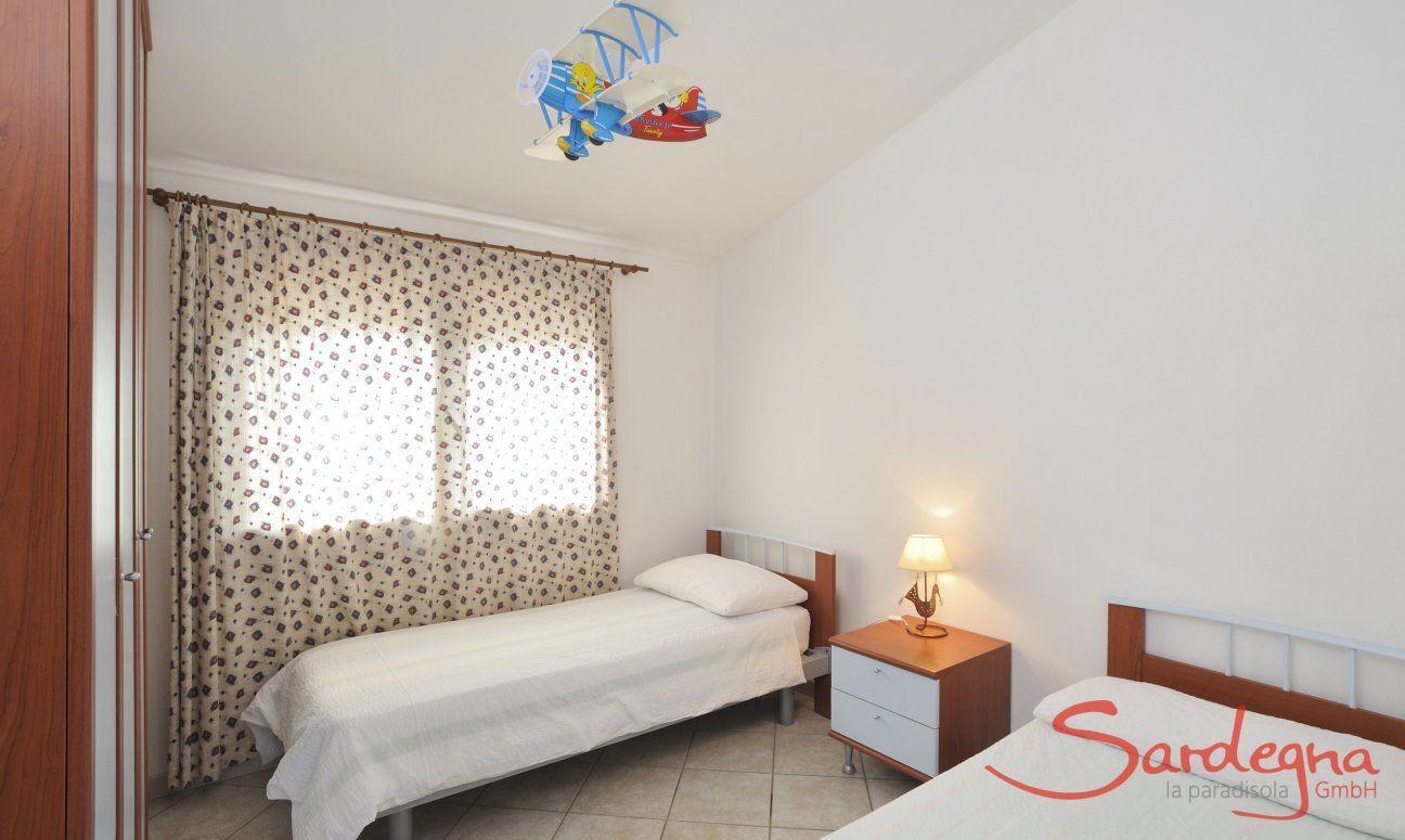 Camera 4 nel seminterato con due letti singoli