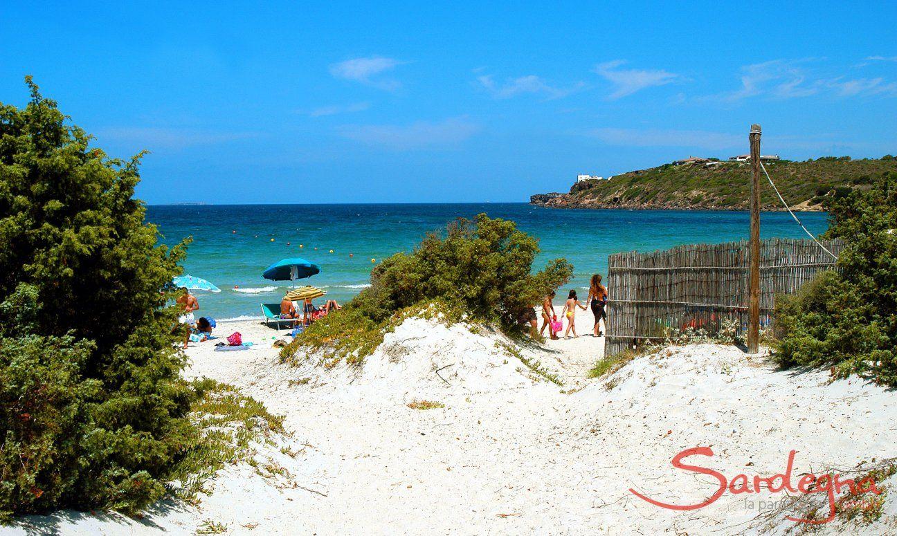 Spiaggia Le Saline a Calasetta