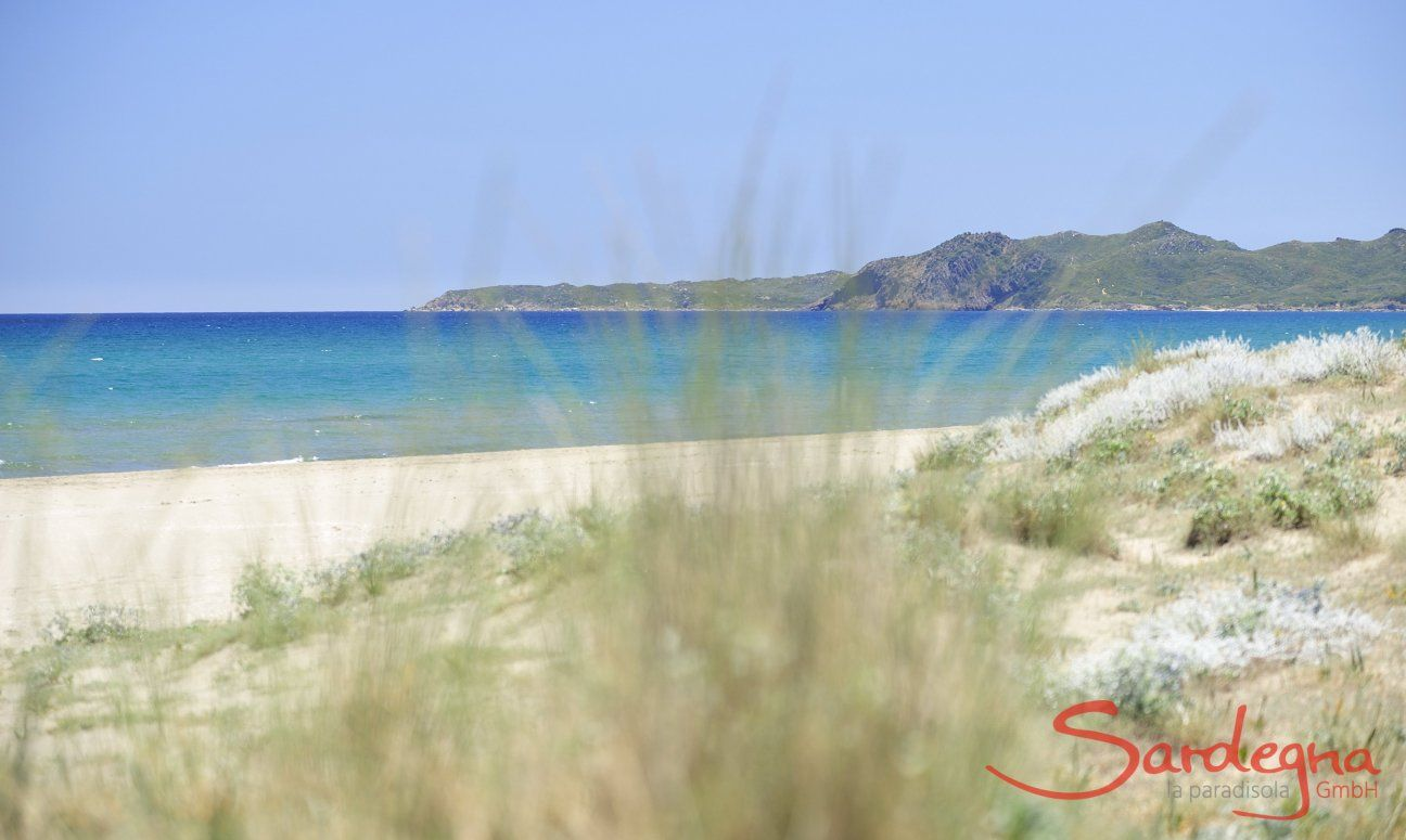 Spiaggia Torreslainas davanti alla casa