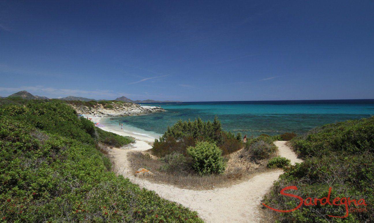 Sentiero che porta alla spiaggia di  Sant Elmo