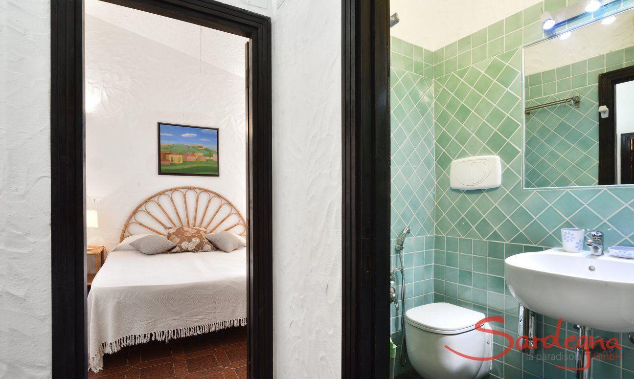 Vista camera da letto e bagno  Villa Serena, Costa Rei