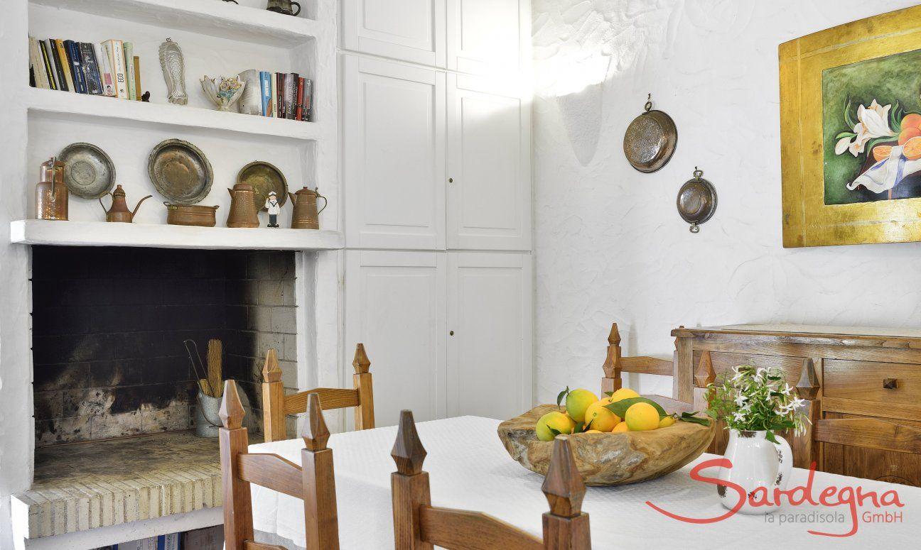 Caminetto interno  Villa Serena, Costa Rei