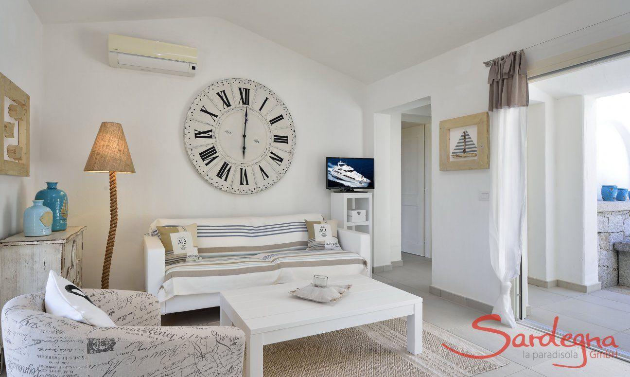 Sala con angolo divano  Villa Campidano 21