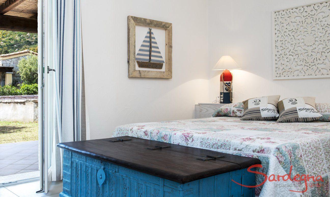 Camera con letto matrimoniale  Villa Campidano 21