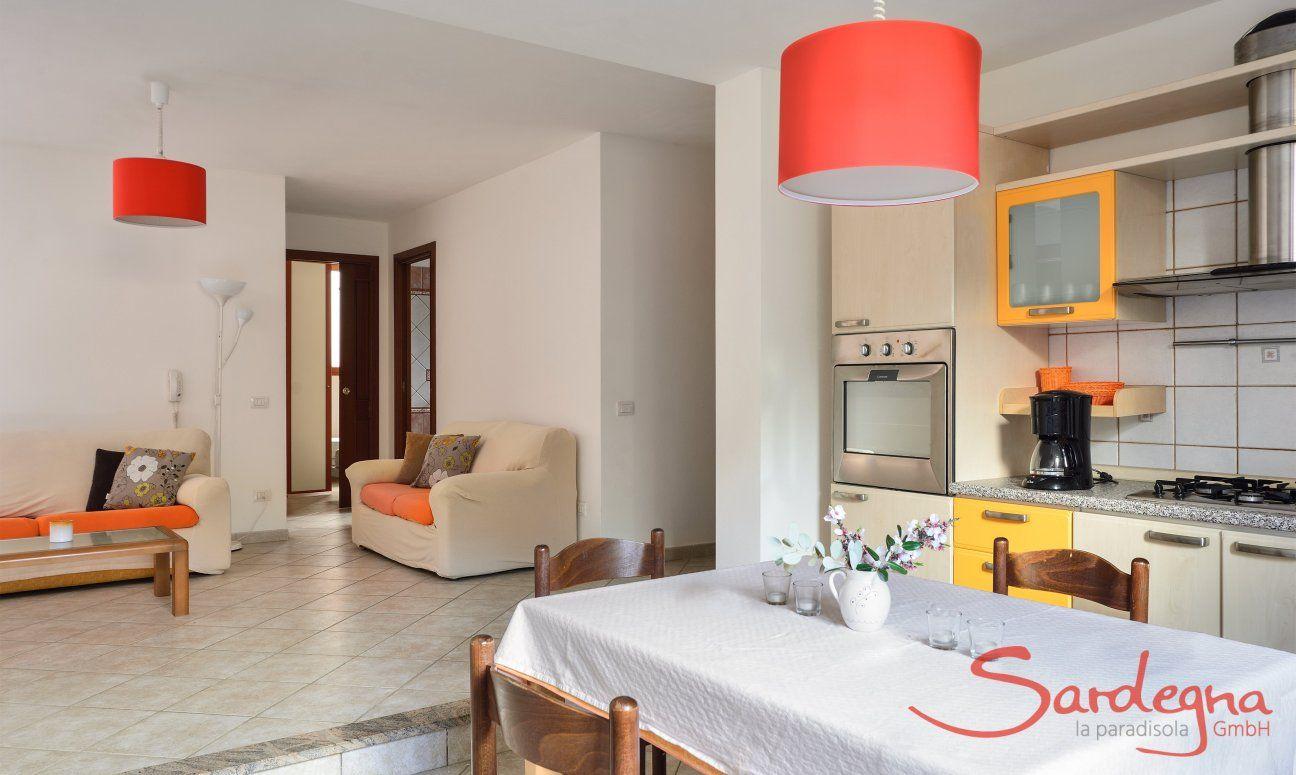 Cucina e sala seminterrato