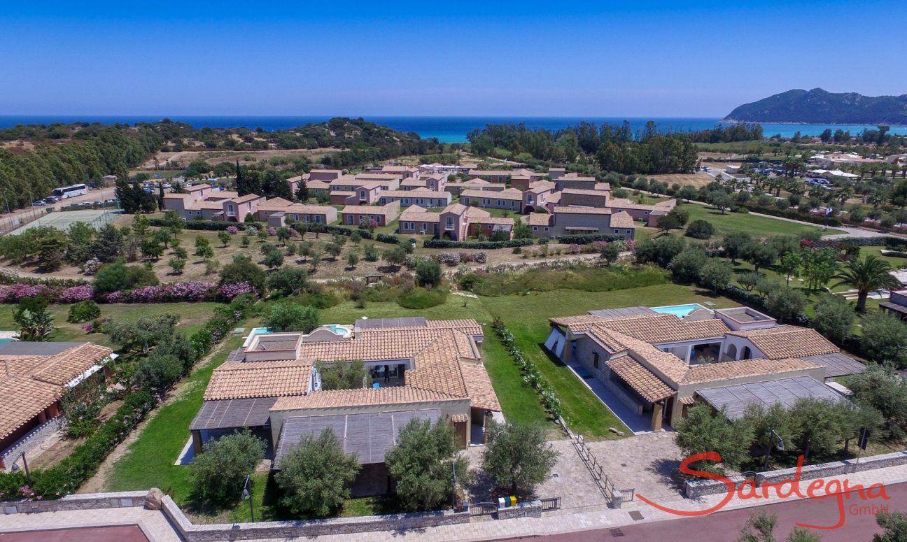 Vista aereo e distanza dal mare  Villa Campidano 21