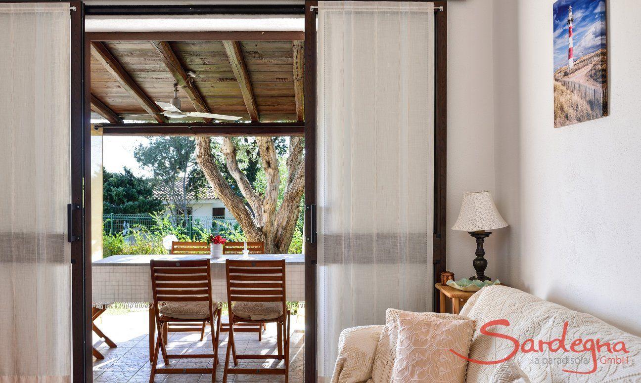 Salotto e veranda