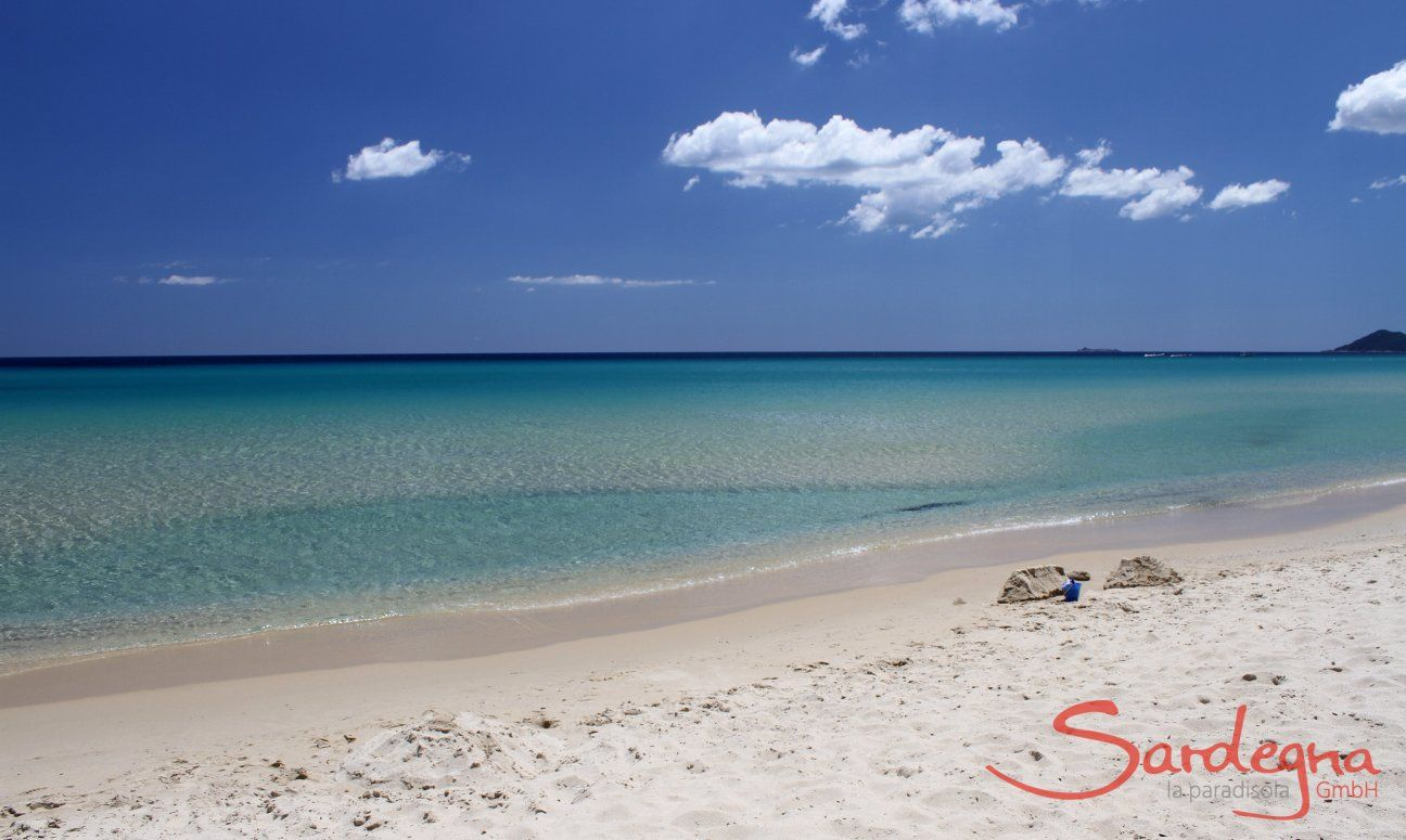 Spiaggia bianca e acqua cristallina di Costa Rei