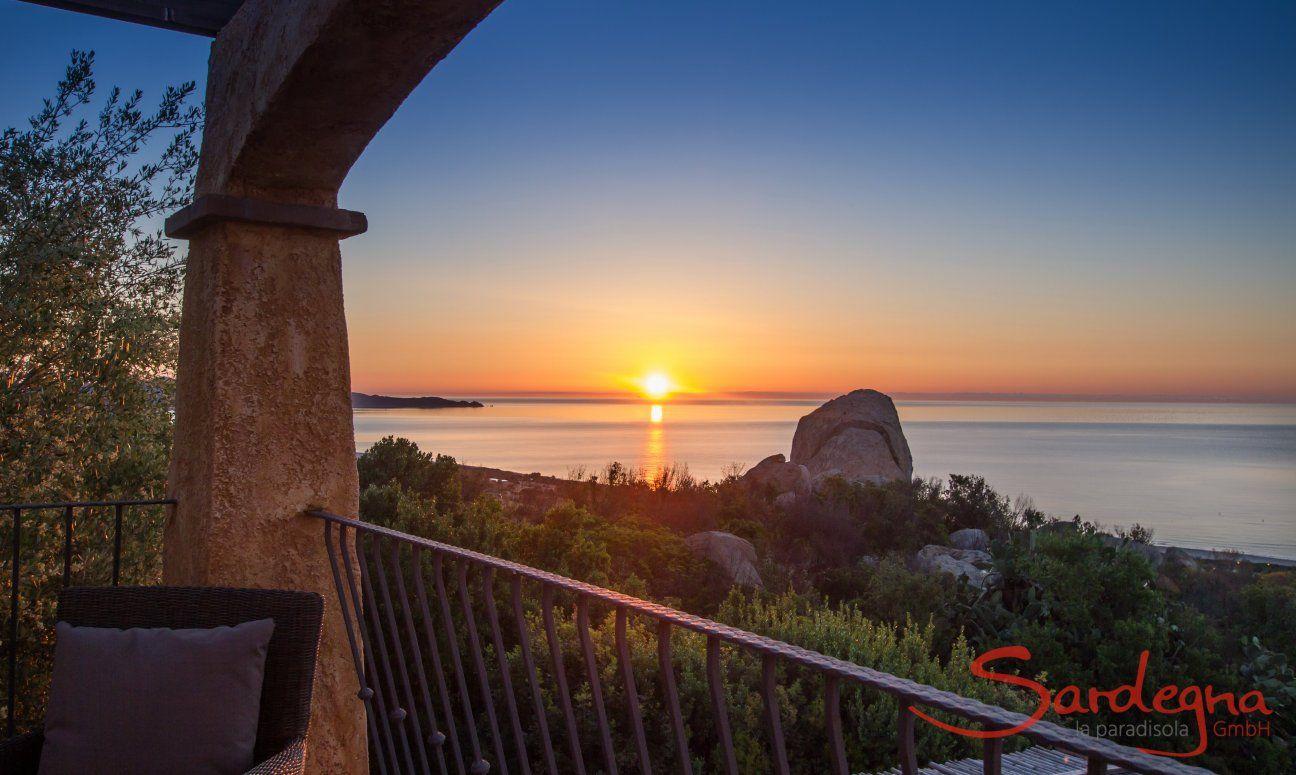 Alzare del sole visto dalla terrazza