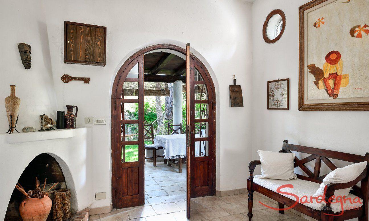 Porta dal salotto per la veranda