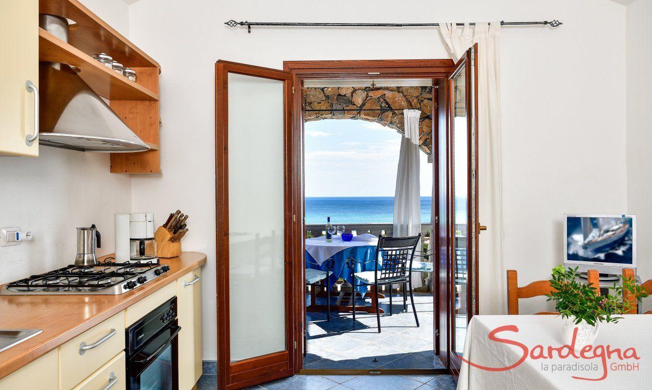 Cucina e veranda