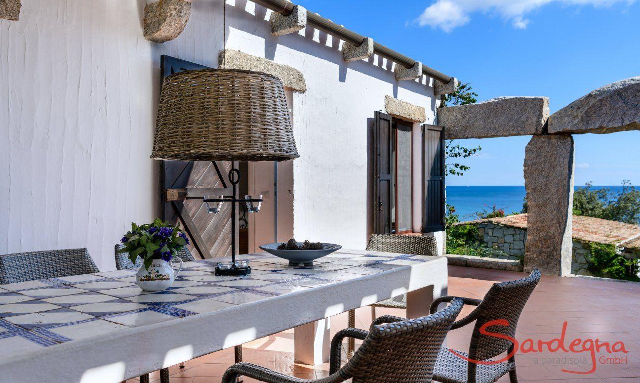 Terrazza con tavolo e vista mare, Casa 15, Sant Elmo