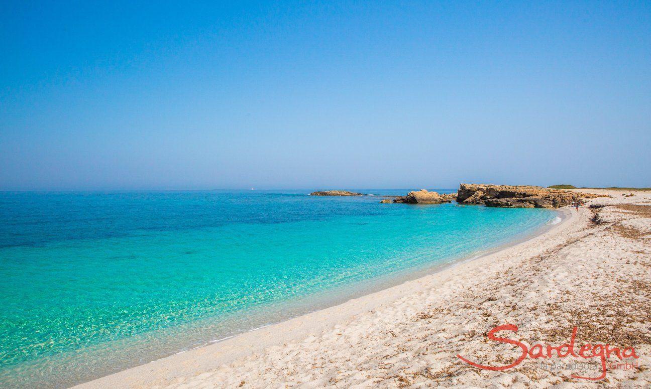Spiaggia bianca di Is Arutas vicino Oristano