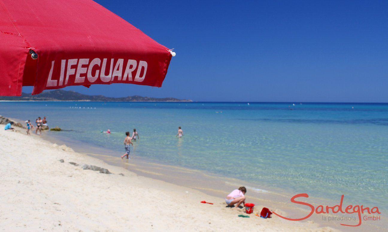 Cala Sinzias spiaggia con bagnino per la Vostra sicurezza