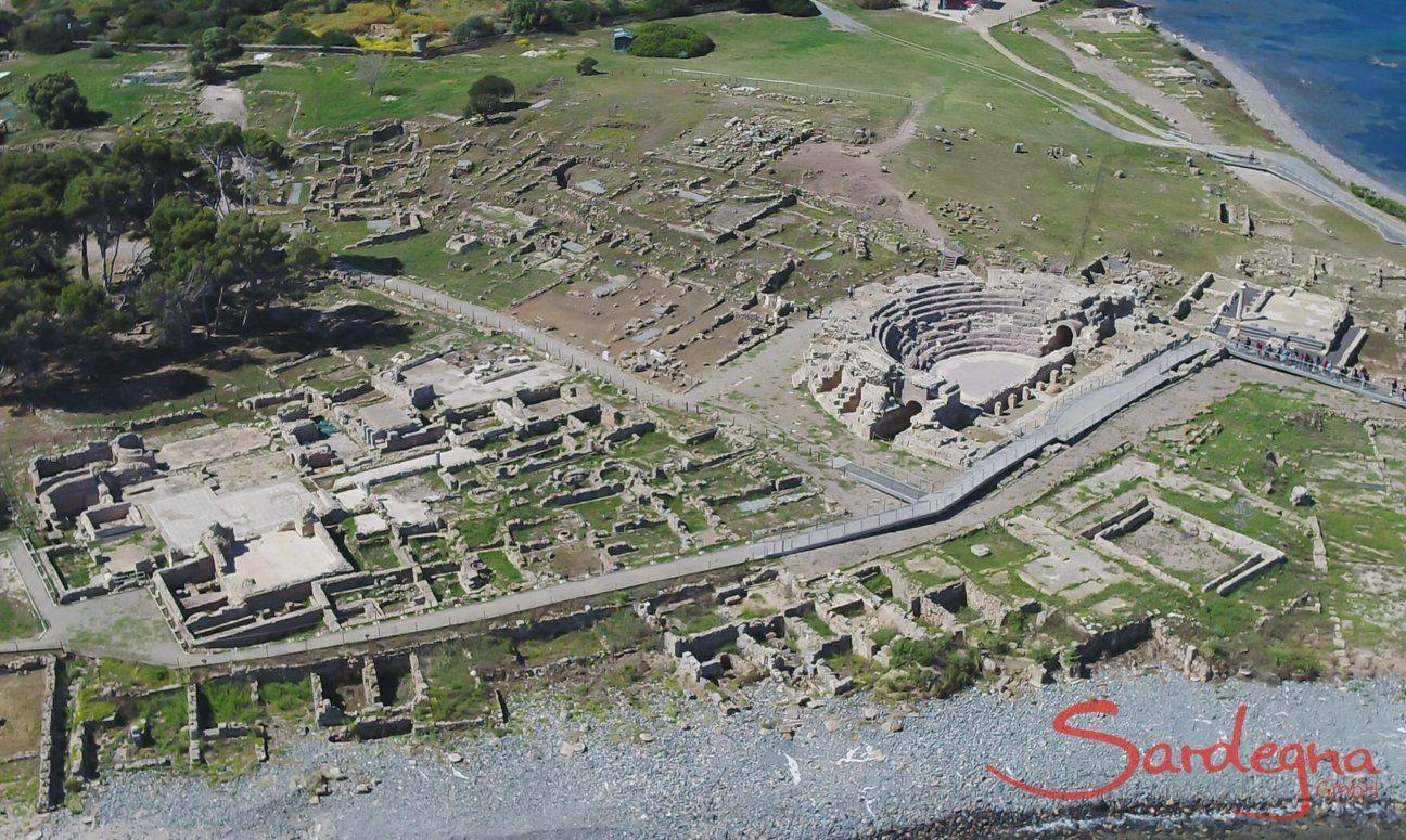 Sito Archeologico di Nora a Pula nel sud della Sardegna