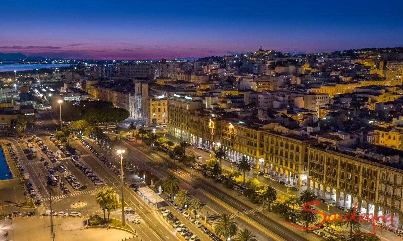 Cagliari by night, Sud Sardegna