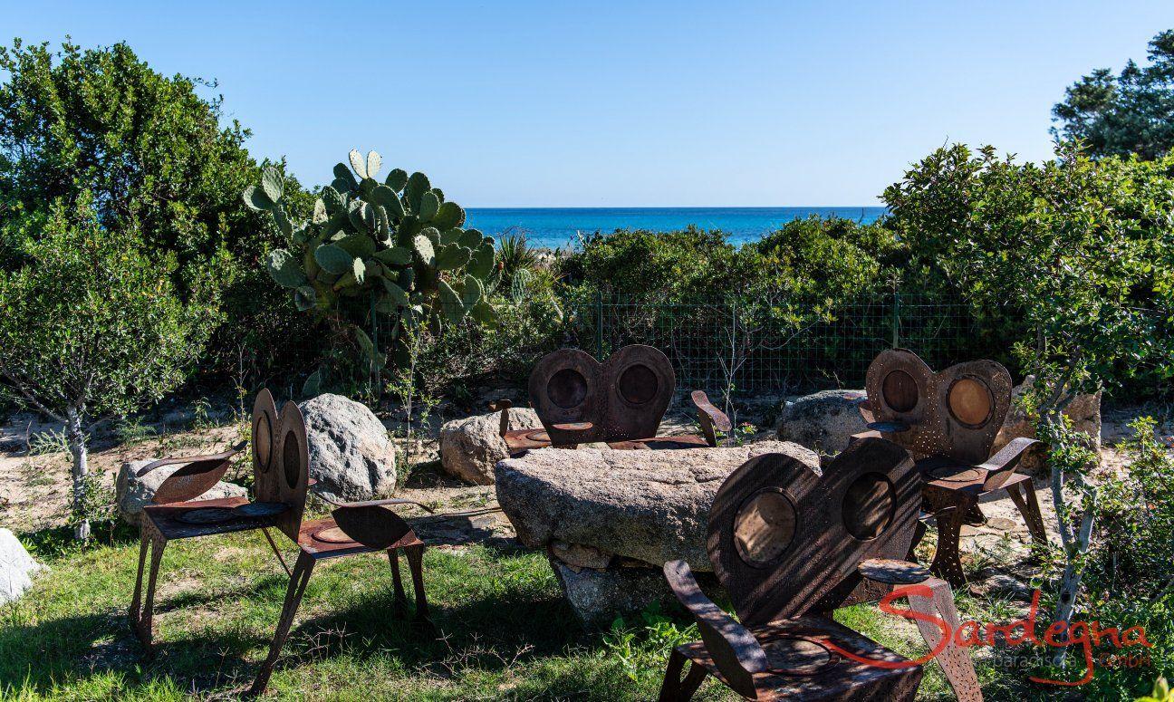 Giardino con vista mare Villetta 3 Costa Rei