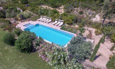 Panorama vista sulla piscina