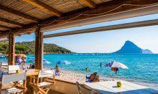 Ristorante La Tavernetta sulla spiaggia di Porto Taverna