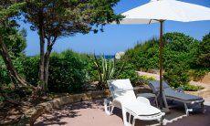 Terrazza di Villa Marco con il Mare all'orrizonte