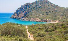 Sentiero per pedoni per arrivare alle insenature di Capo Ferrato