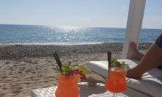 Aperitivo sulla spiaggia di Cagliari