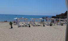 Spiaggia di Masua sulla costa ovest della Sardegna