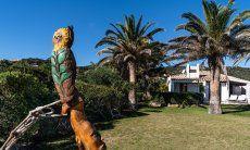 Statua guffo con giardino Villetta 3 Costa Rei