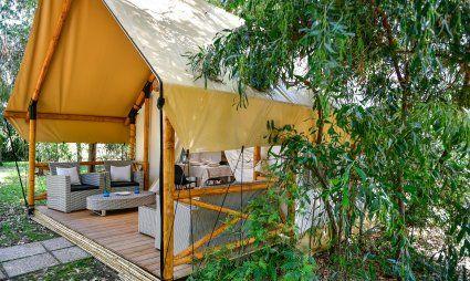 Veranda sotto la tenda